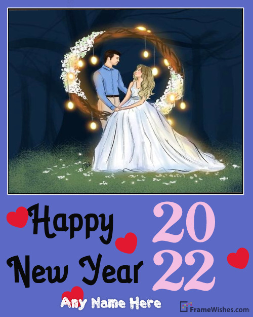 2021 Happy New Year Photo Frame Free Edit Online