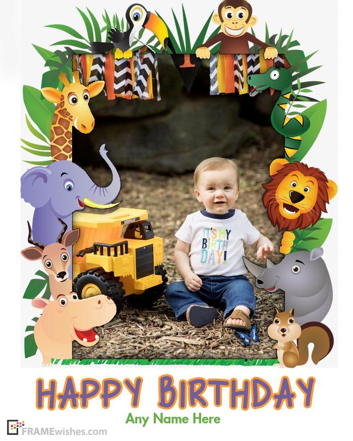 Animals Birthday Photo Frame For Kids