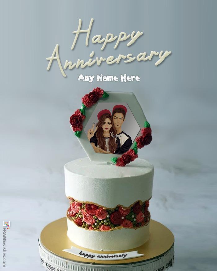 Anniversary Cake With Photo Frame 2020