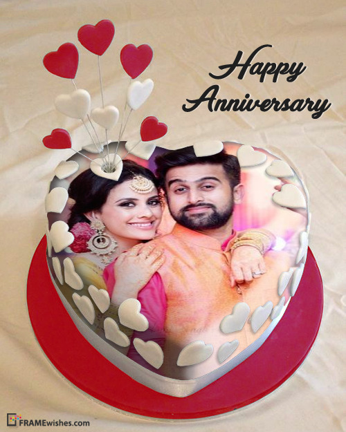 Anniversary Cake With Photo - Romantic Cake Download