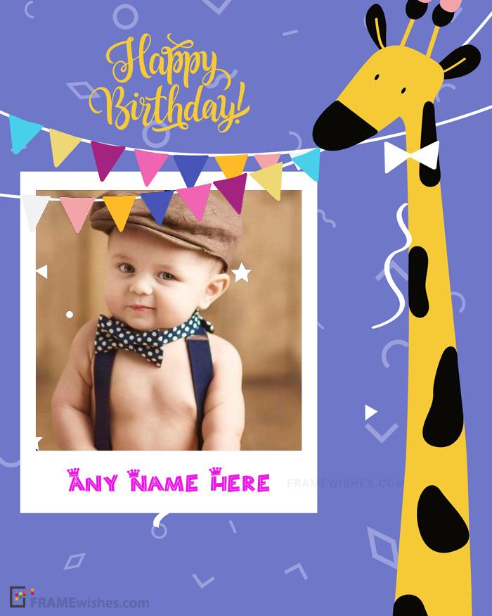 Online Baby Birthday Photo Frames