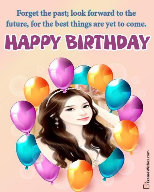 Balloons Birthday wish Photo Frame Free Online Gift