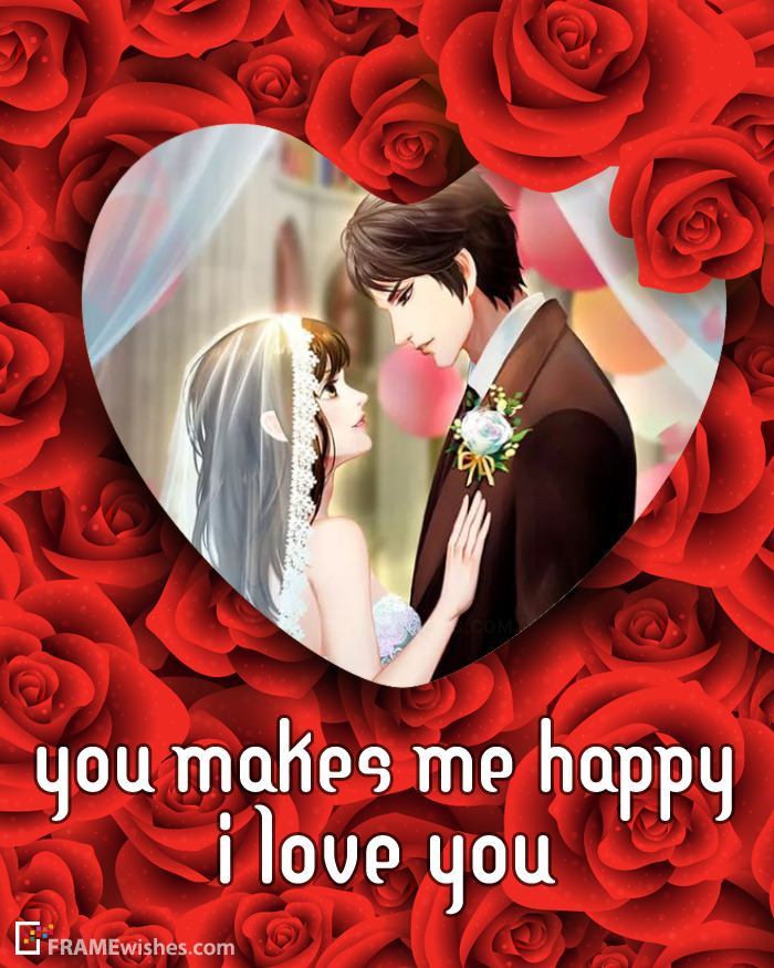 Beautiful Love Heart Photo Frame