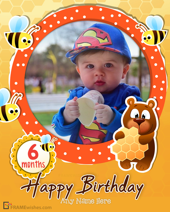 Bees Happy Birthday Photo Frame For Kids