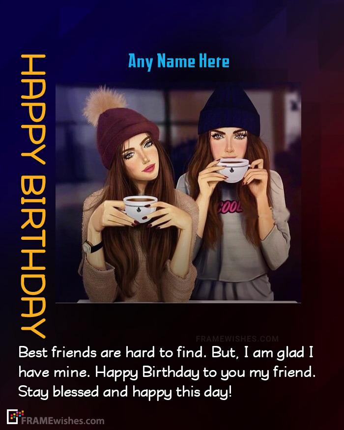 Best Friend Happy Birthday Wish Frame