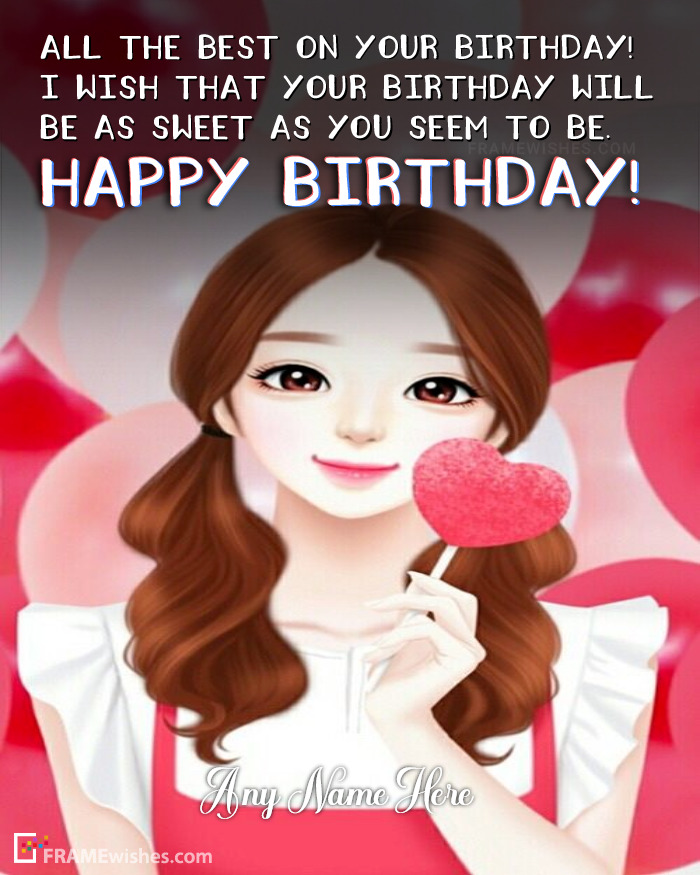 Best Wishes Happy Birthday Frame With Photo