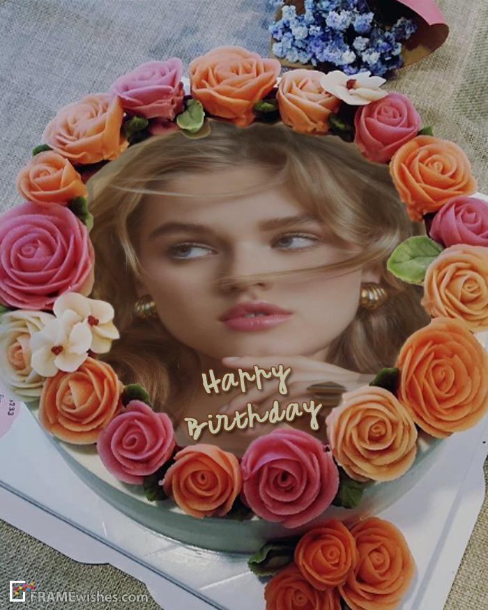 Happy Birthday Cake With Photo Editor Online