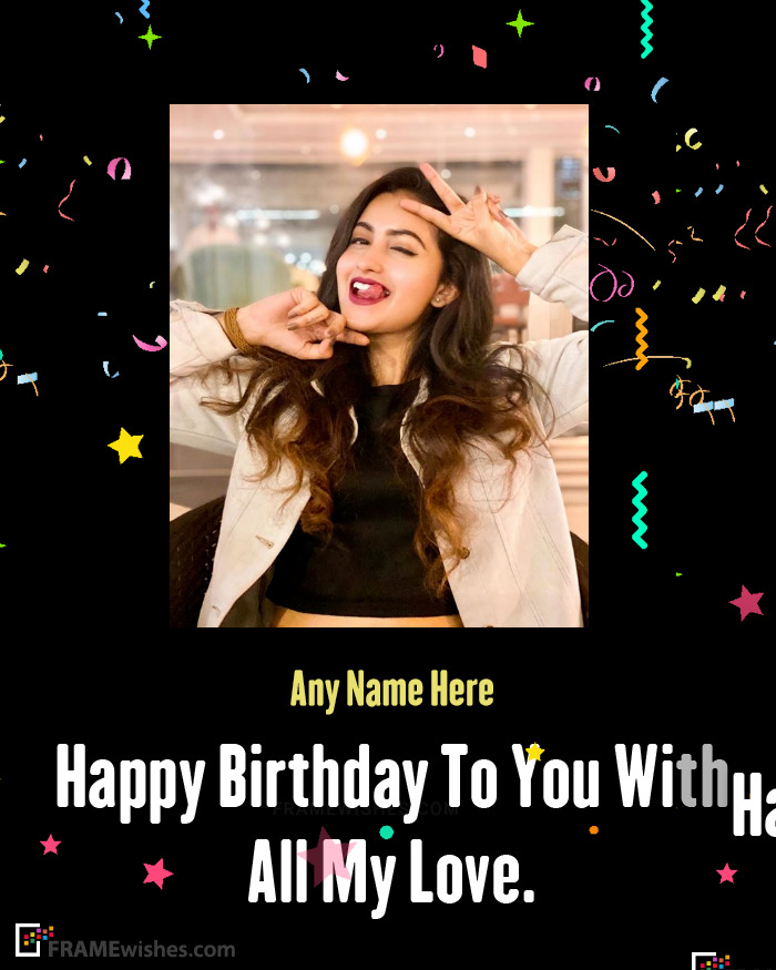 Happy Birthday Wishes With Personal Photo