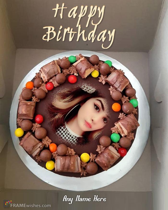 Choco Birthday Cake Photo Frame