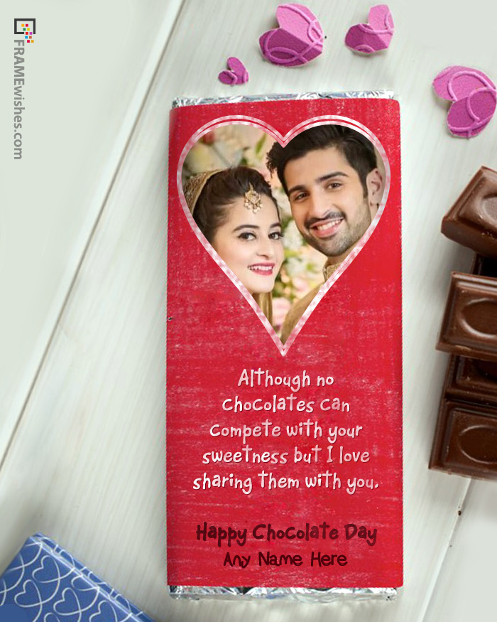 Chocolate Bar Photo Frame For Happy Chocolate Day