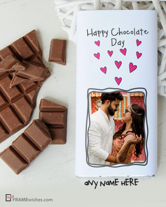 Chocolate Bar Wrapper Photo Frame