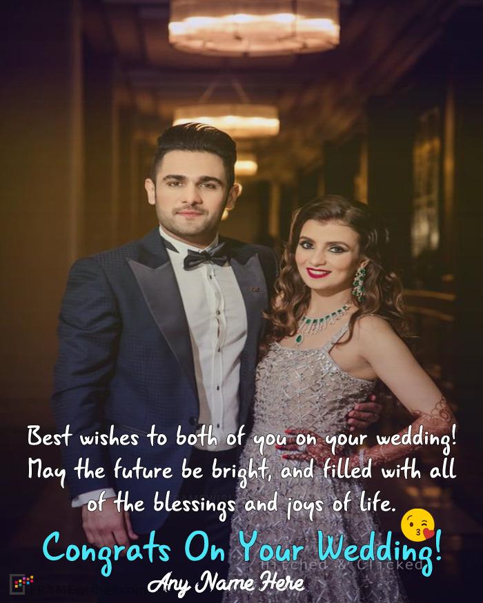 Congratulation On Wedding Day Photo Frame