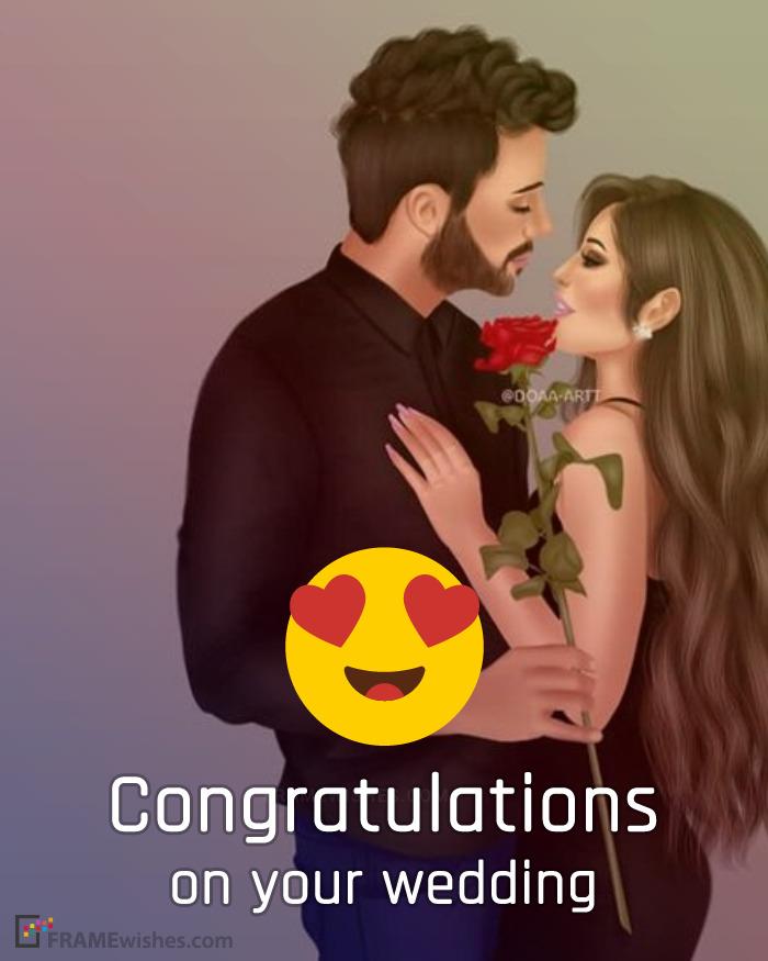 Congratulations Wedding Photo Frames Online