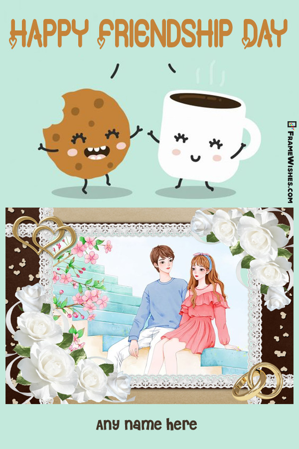 Cookie and Tea Friendship Day Photo Frame For Friends