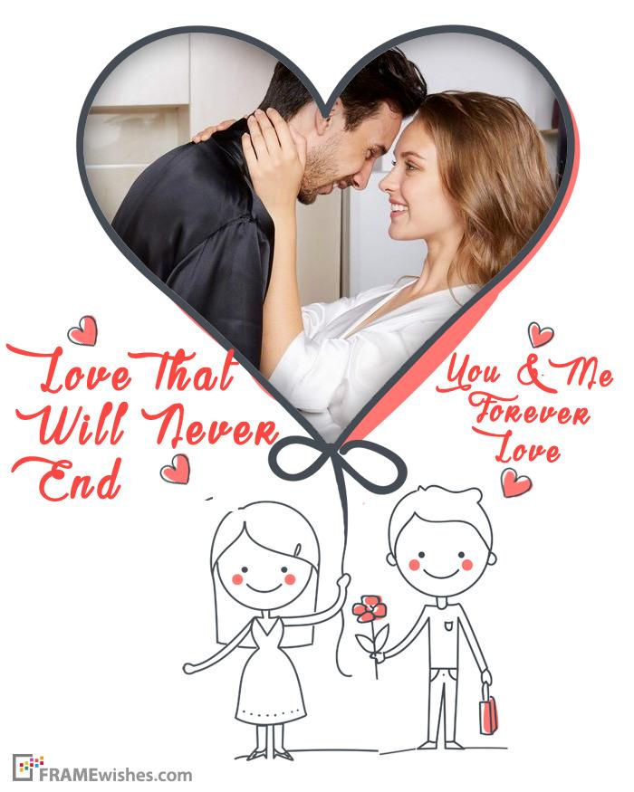 Custom Love Heart Picture Frames