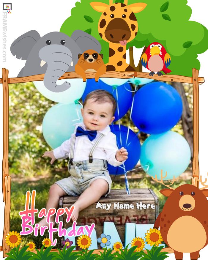 Cute Birthday Photo Frame For Children