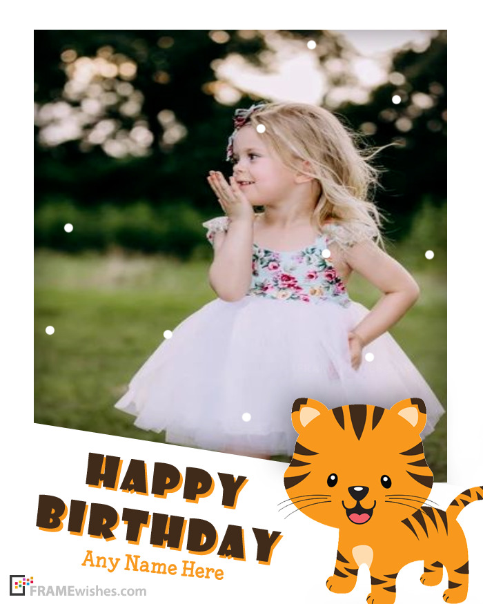 Cute Lion Birthday Photo Frame For Kids