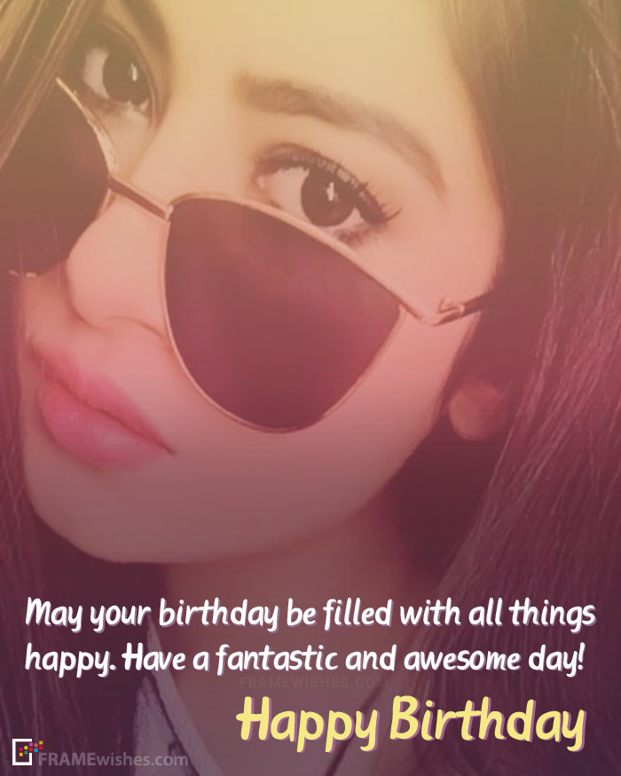 Free Editable Birthday Wishes With Photo