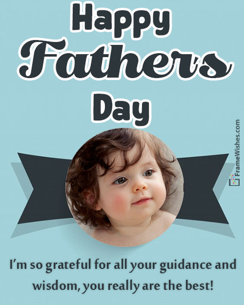 Fathers Day Photo Frame Free Online Gift From Daughter