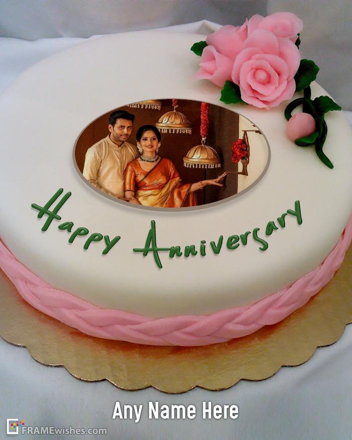 Free Anniversary Cake With Photo Editor