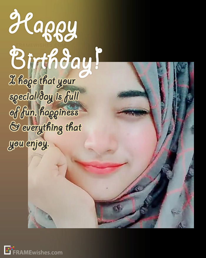Free Frame To Send Birthday Wishes