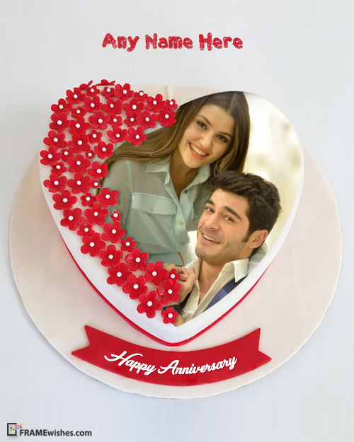 Happy Anniversary Cake with Photo - Best Cake for Wishing