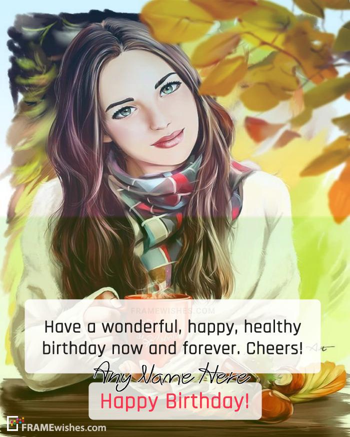 Happy Birthday Greetings Photo Frame