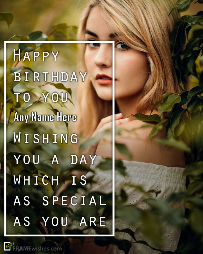 Happy Birthday Messages Frame