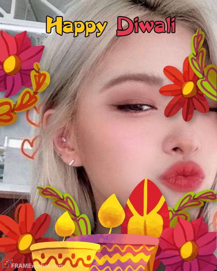 Happy Diwali With Photo Frame