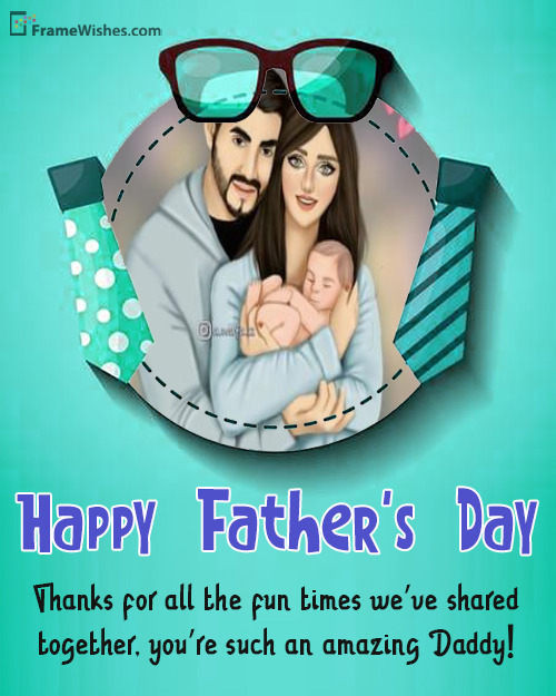 Happy Father's Day Message From Daughter Photo Frame