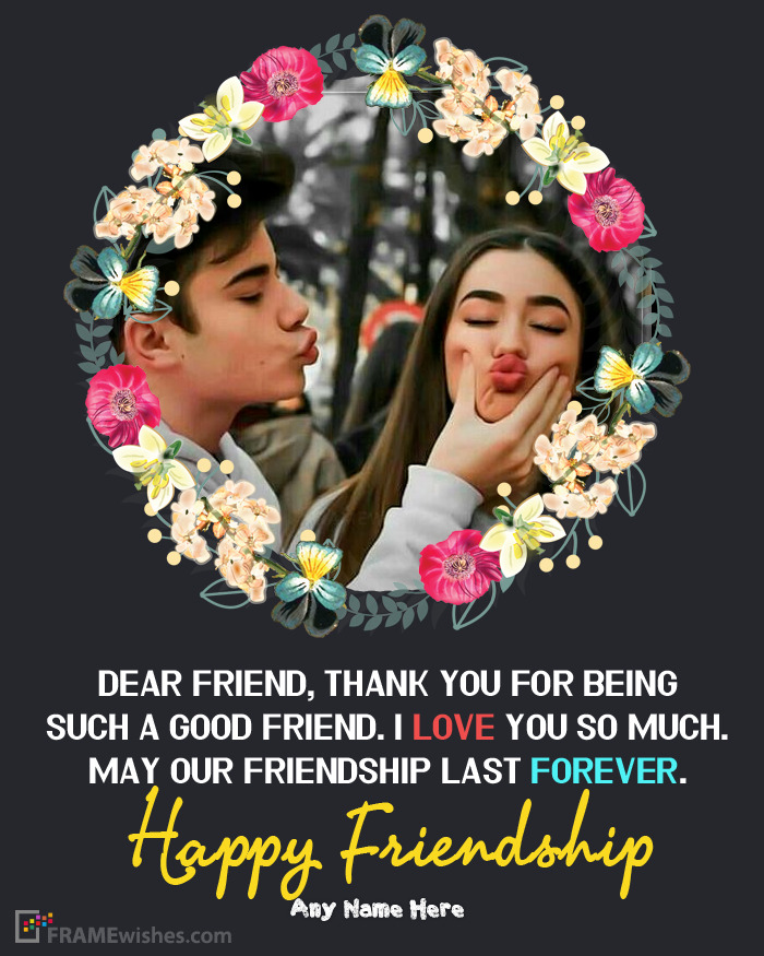 Happy Friendship Photo Frames Wishes