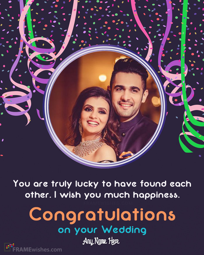 Happy Marriage Photo Frames - Send Best Wishes