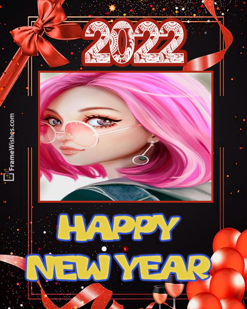 Happy New Year Photo Frame for Friends - 2021