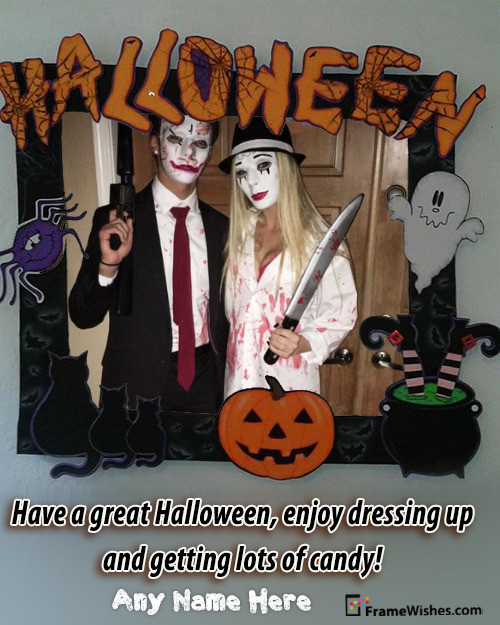 Happy Scary Halloween Photo Frame Free Edit Online For Friends