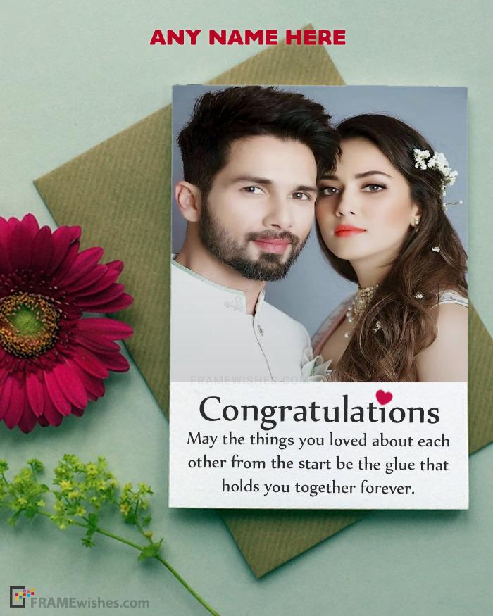 Happy Wedding Wishes With Photo