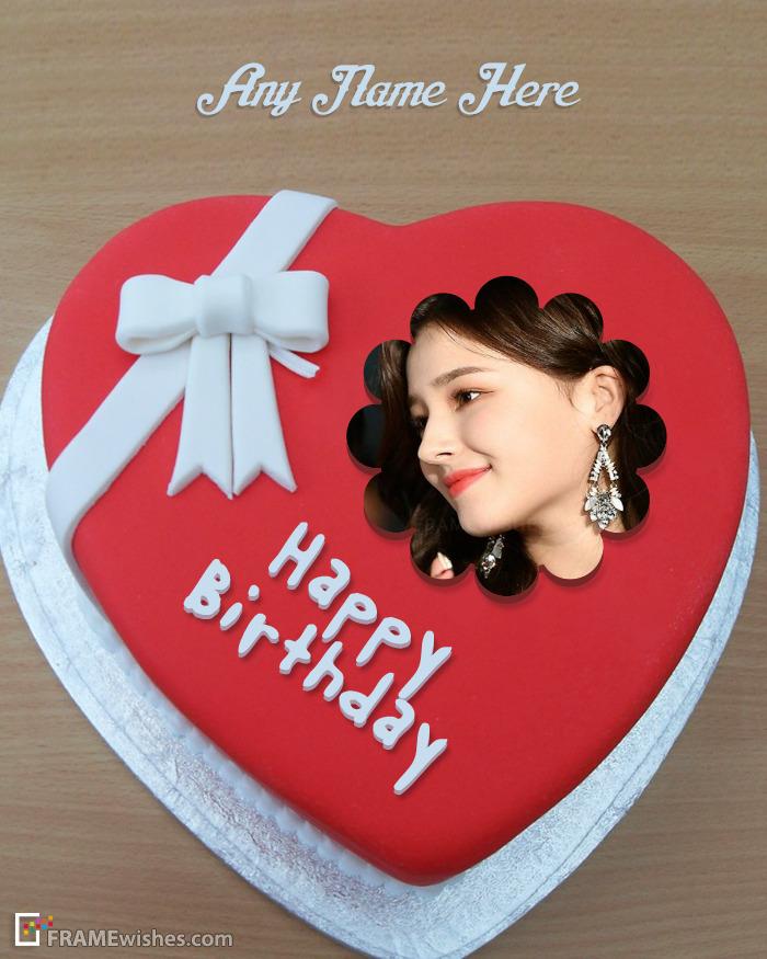 Romantic Heart Cake Frame For Birthday