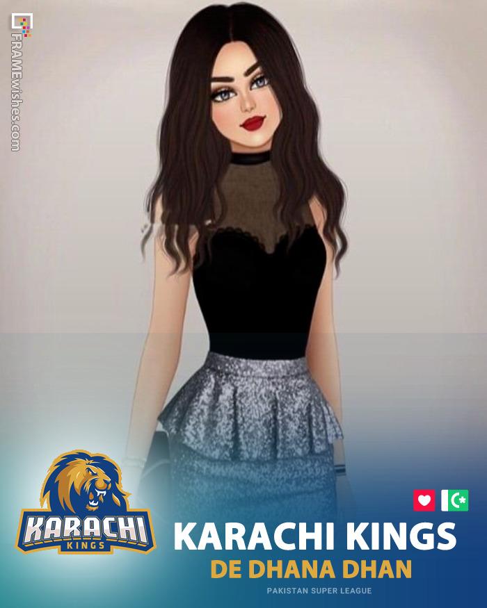 Karachi Kings Photo Frame - PSL 5 2020