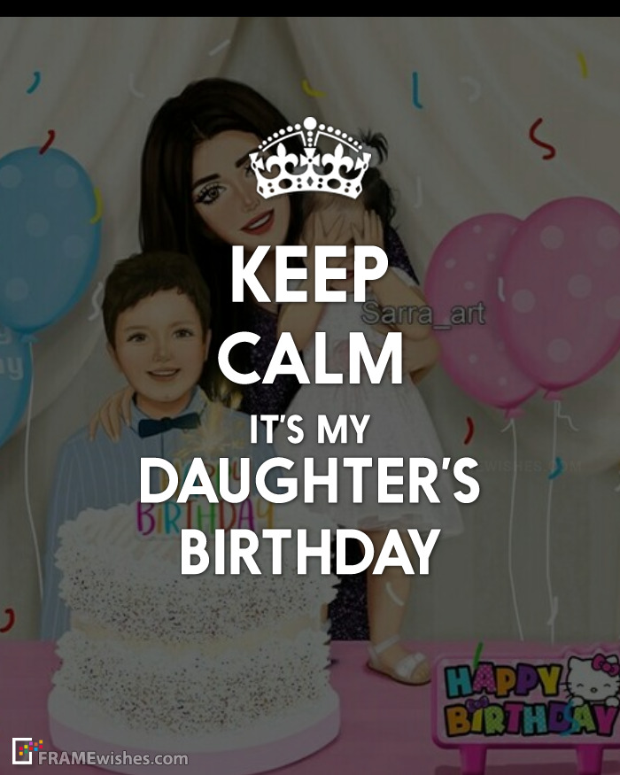 Keep Calm Birthday Photo Frame For Daughter