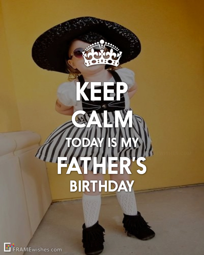 Keep Calm Birthday Photo Frame For Father