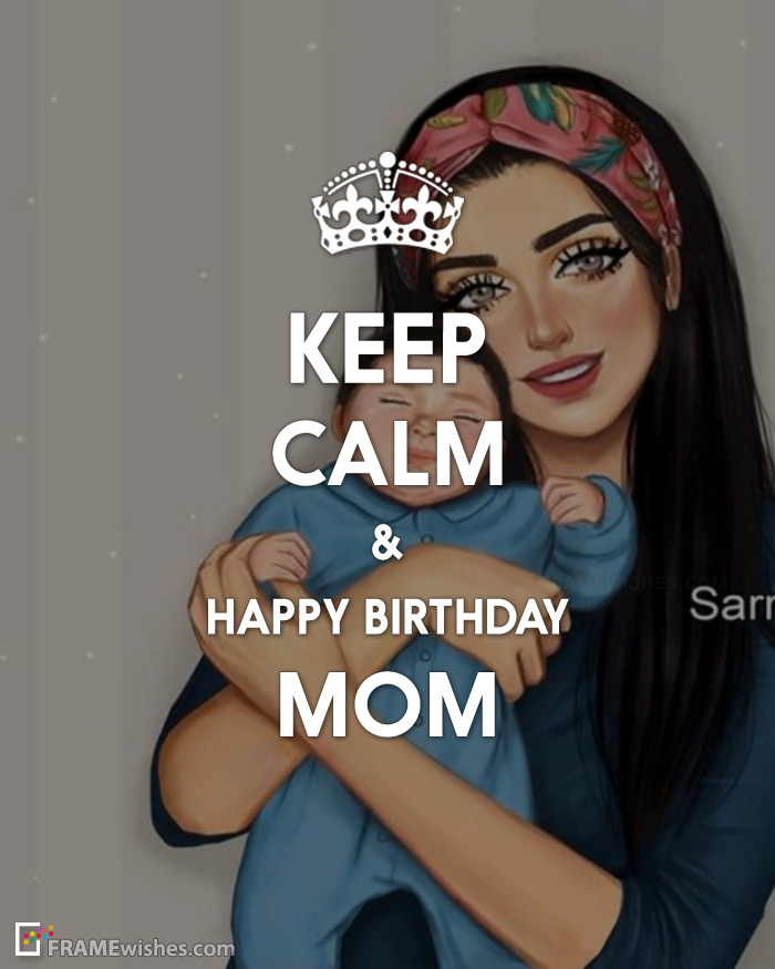 Keep Calm Birthday Photo Frame For Mother