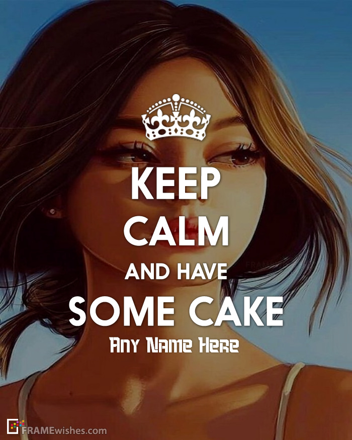 Keep Calm And Have Some Cake Birthday Photo Frame