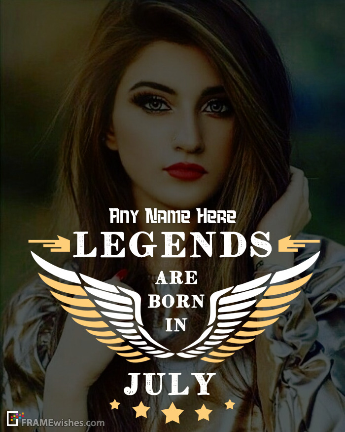 Legends Are Born In July Frame