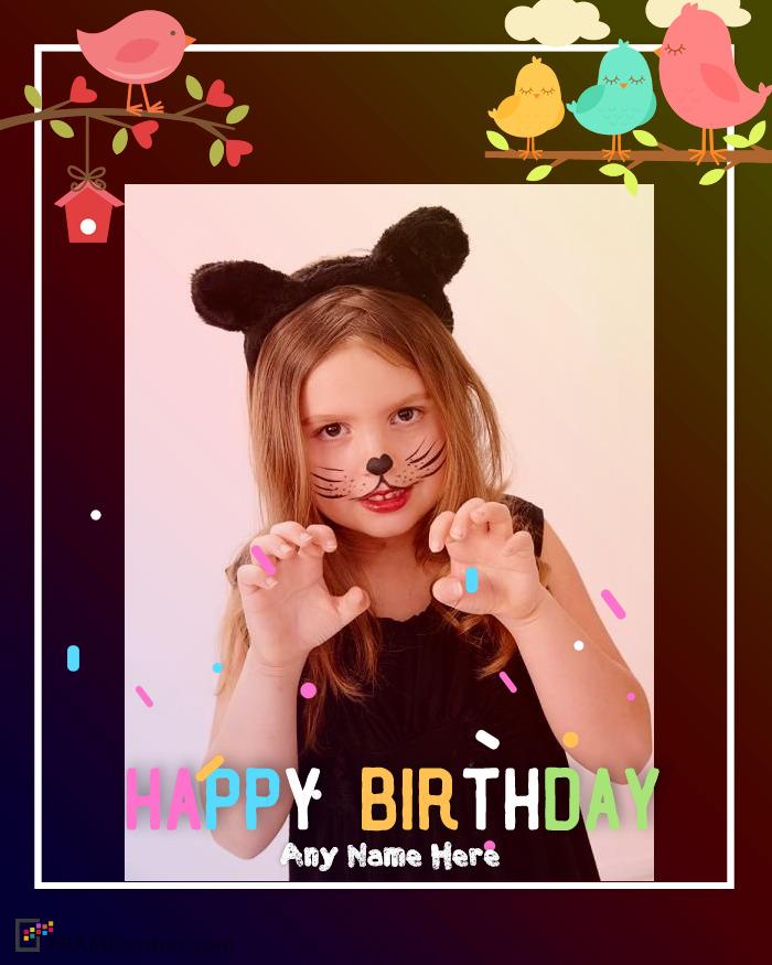 Little Birds Birthday Photo Frame For Kids