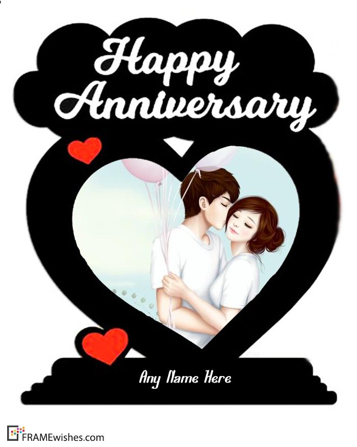 Heart Love Anniversary Photo Frame