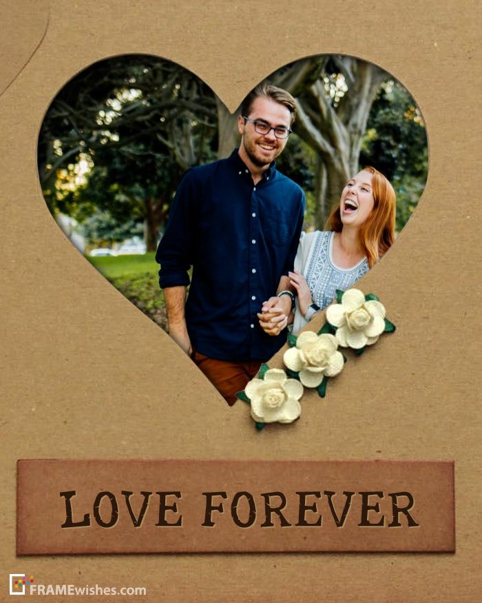 Love Forever Heart Photo Frame