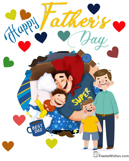 Lovely Fathers Day Greeting Cards With Pic Edit Online Gift Free For Dad