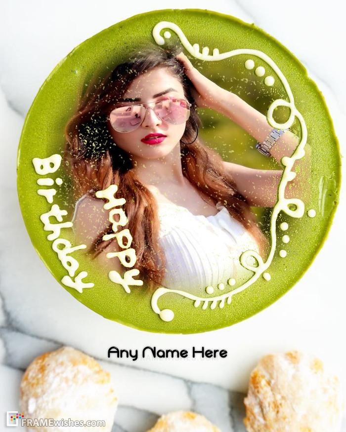 Make Birthday Cake Photo Frame Online