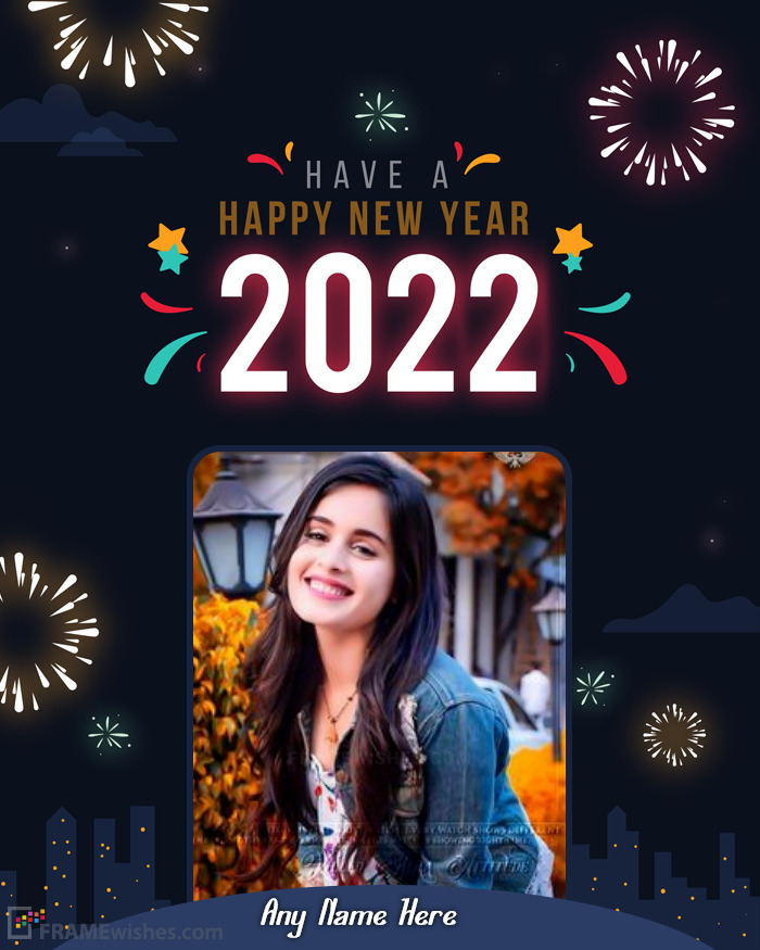 Online New Year Image Editor 2021