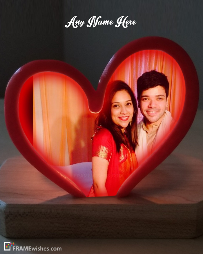 Personalized Love Heart Photo Frame Online