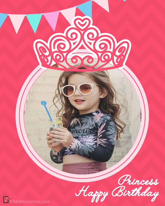Princess Crown Birthday Photo Frame